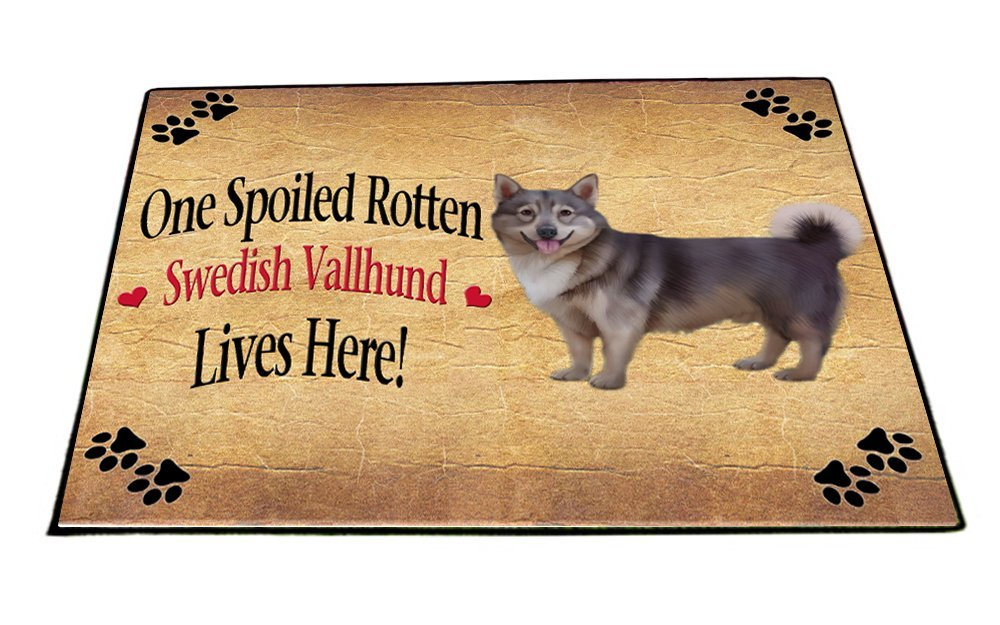 Spoiled Rotten Swedish Vallhund Dog Indoor/Outdoor Floormat
