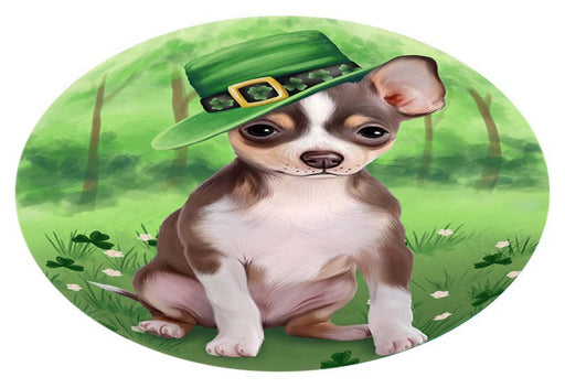 St. Patricks Day Irish Portrait Chihuahua Dog Oval Envelope Seals OVE51096
