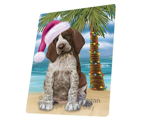"Summertime Happy Holidays Christmas Bracco Italiano Dog On Tropical Island Beach Magnet Small (5.5"" x 4.25"") d162"