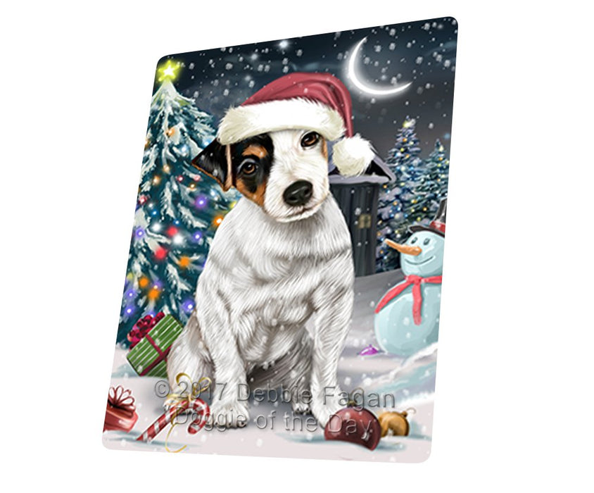 "Have A Holly Jolly Christmas Jack Russell Dog In Holiday Background Magnet Mini (3.5"" x 2"") D080"