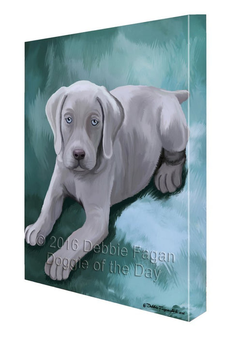 Weimaraner Puppy Dog Painting Printed on Canvas Wall Art