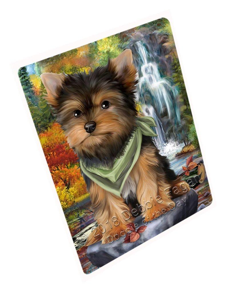 "Scenic Waterfall Yorkshire Terrier Dog Magnet Small (5.5"" x 4.25"") mag52470"