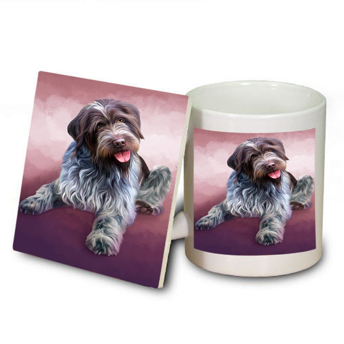 Wirehaired Pointing Griffon Dog Mug and Coaster Set