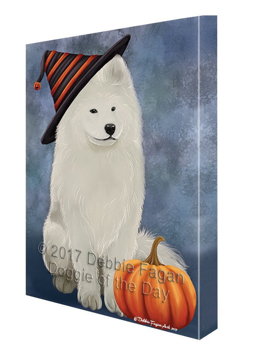 Samoyed Dog Canvas Wall Art