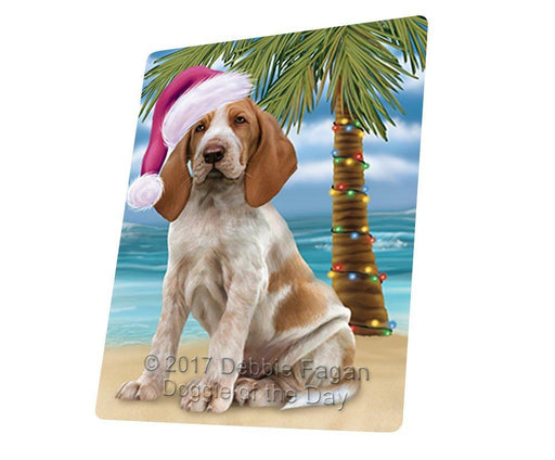 "Summertime Happy Holidays Christmas Bracco Italiano Dog On Tropical Island Beach Magnet Small (5.5"" x 4.25"") d161"