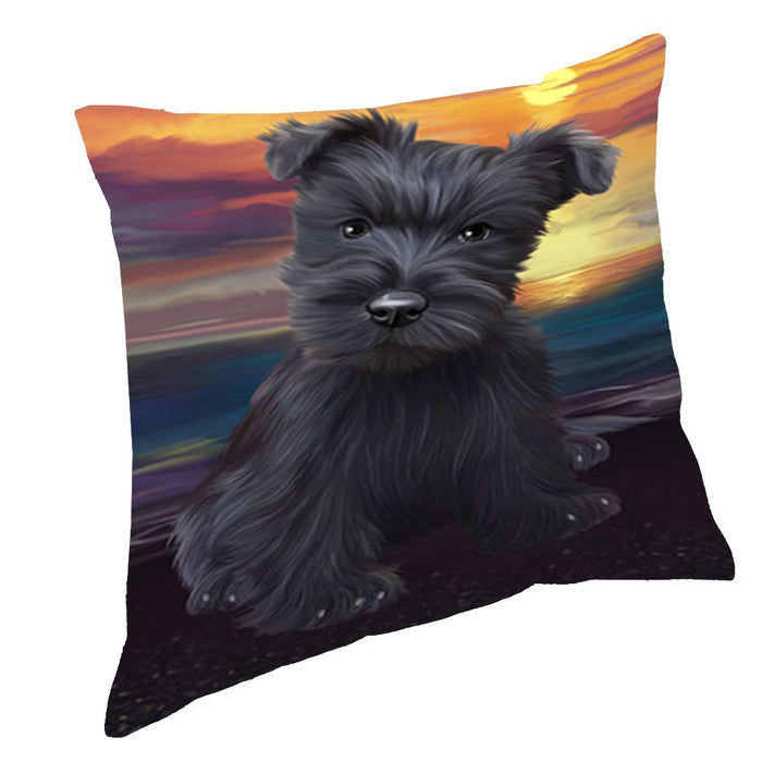 Scottish Terriers Dog Throw Pillow D554