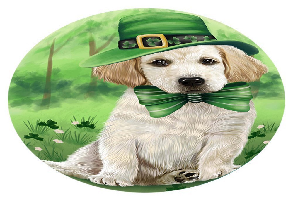 St. Patricks Day Irish Portrait Labrador Retriever Dog Oval Envelope Seals OVE51304