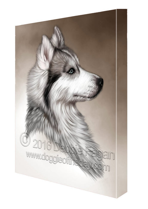 Siberian Husky Dog Art Portrait Print Canvas