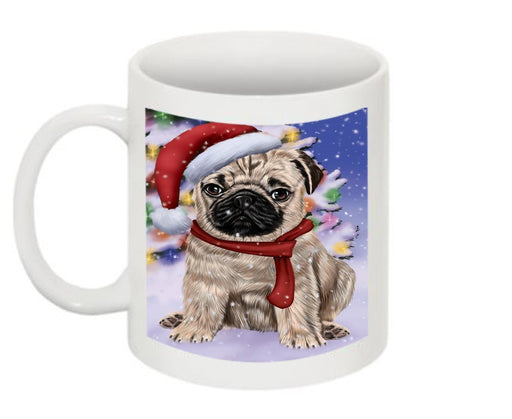 Winter Wonderland Pug Dog Christmas Mug CMG0604