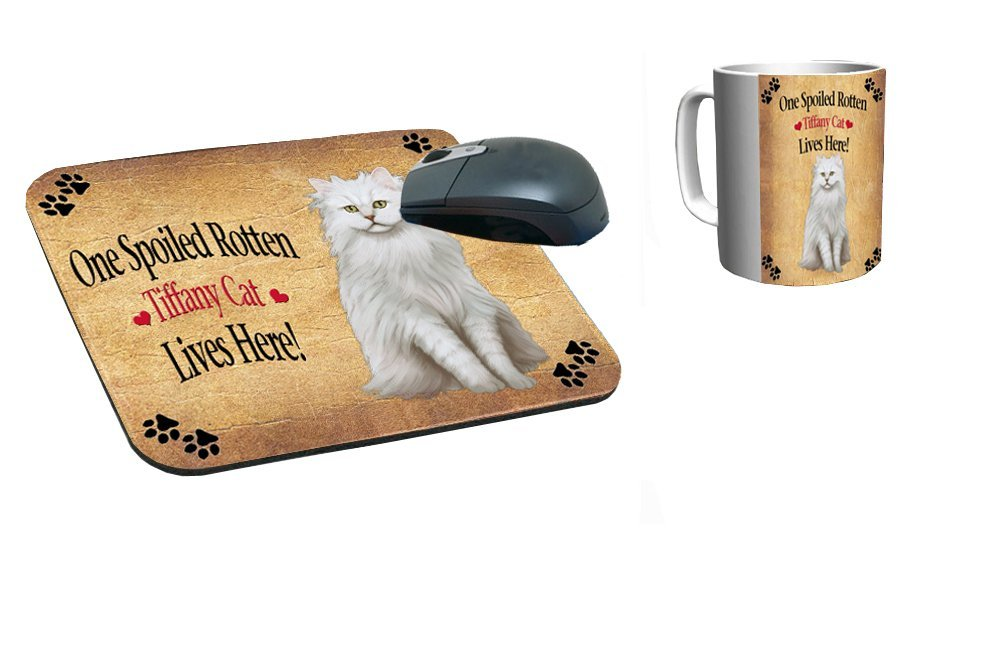 Spoiled Rotten Tiffany Cat Mug & Mousepad Combo Gift Set