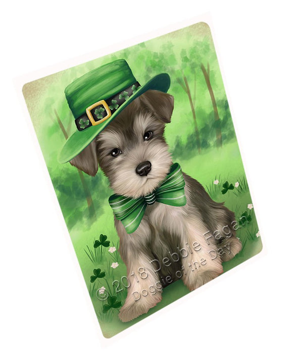 St. Patricks Day Irish Portrait Schnauzer Dog Tempered Cutting Board C51645