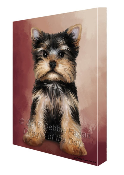 Yorkshire Terrier Dog Canvas Wall Art