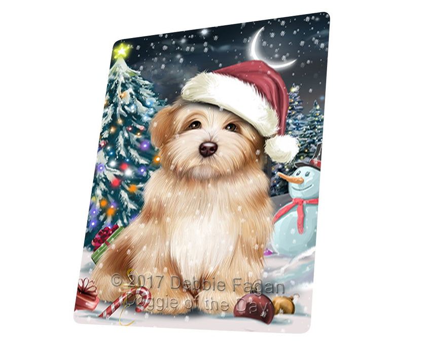 "Have A Holly Jolly Christmas Havanese Dog In Holiday Background Magnet Mini (3.5"" x 2"") d101"