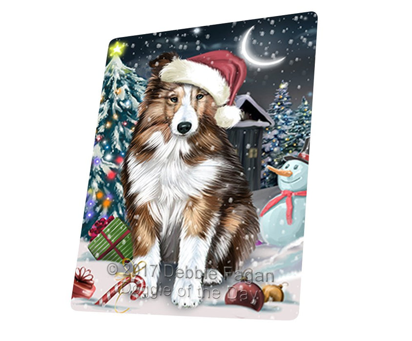 "Have A Holly Jolly Christmas Shetland Sheepdogs Dog In Holiday Background Magnet Mini (3.5"" x 2"") D090"