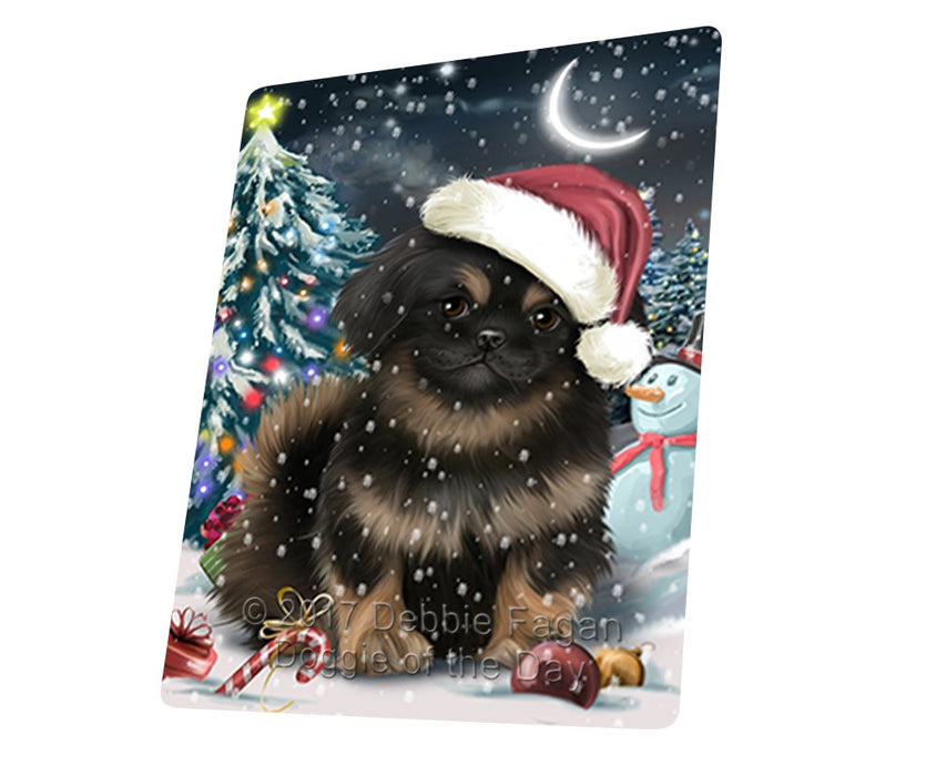 "Have A Holly Jolly Christmas Pekingese Dog In Holiday Background Magnet Mini (3.5"" x 2"") d196"
