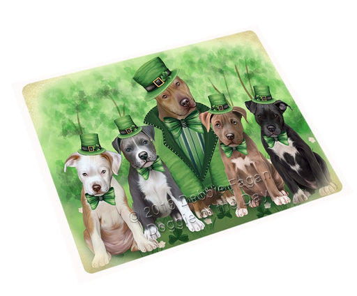 St. Patricks Day Irish Family Portrait Pit Bulls Dog Large Refrigerator / Dishwasher Magnet RMAG55044
