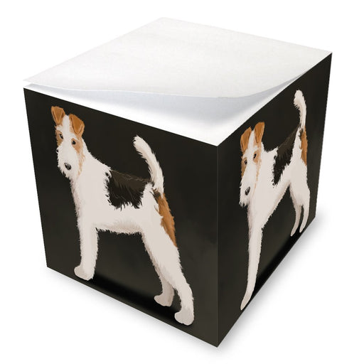 Wire Fox Terrier Dog Note Cube