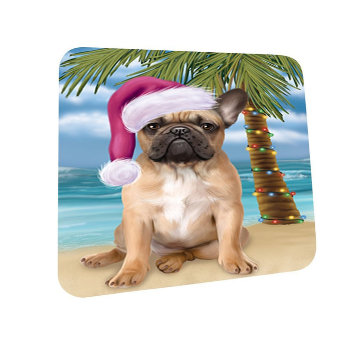 Summertime French Bulldog on Beach Christmas Coasters CST505 (Set of 4)