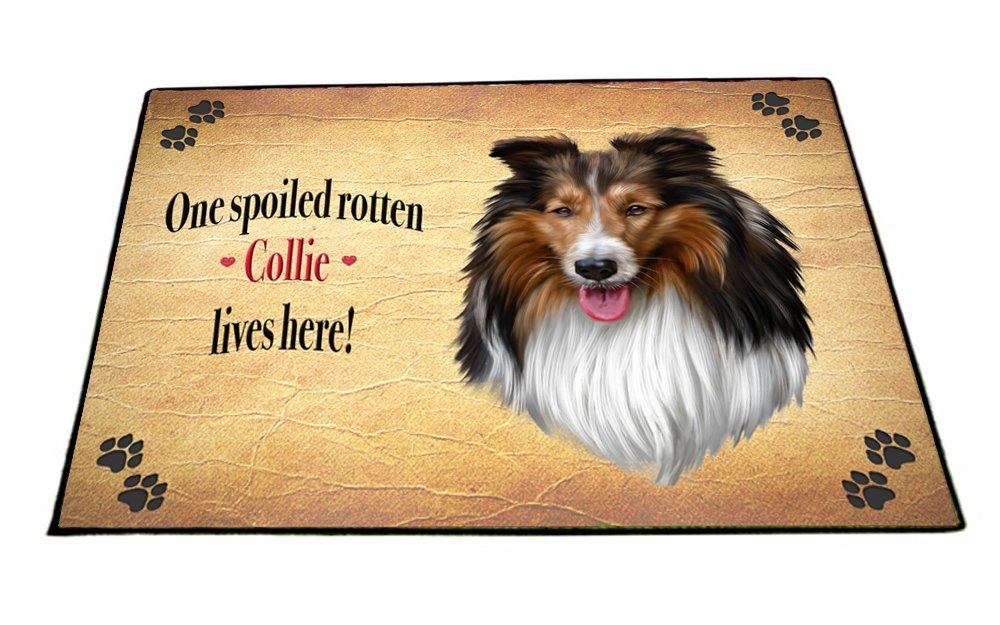 Spoiled Rotten Collie Dog Floormat