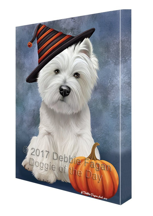 West Highland White Terrier Dog Canvas Wall Art CV365