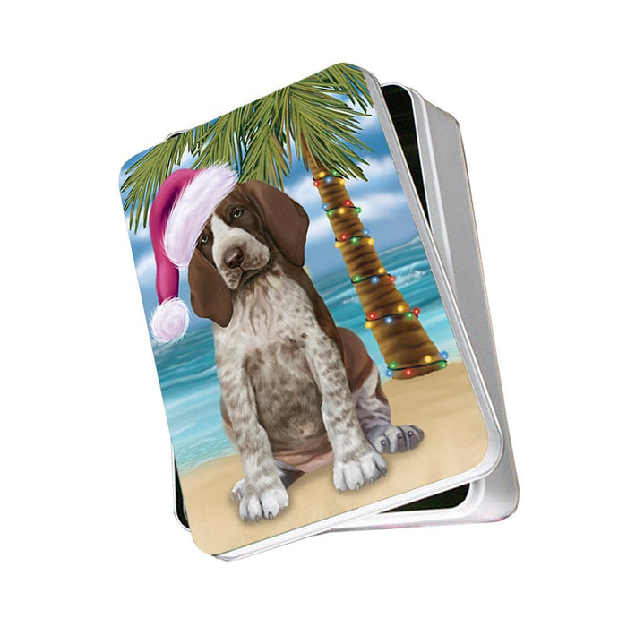 Summertime Bracco Italiano Puppy on Beach Christmas Photo Storage Tin PTIN0593