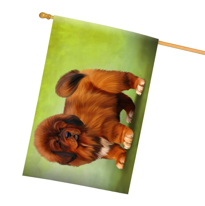 Tibetan Mastiff Dog All Weather House Flag