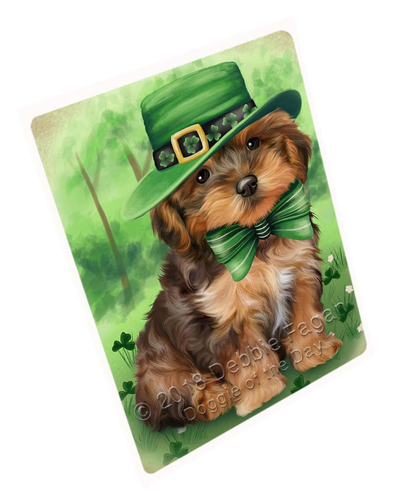 St. Patricks Day Irish Portrait Yorkipoo Dog Large Refrigerator / Dishwasher Magnet RMAG55596