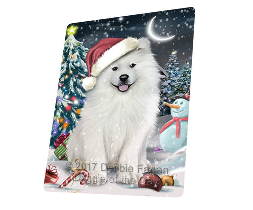 "Have A Holly Jolly Christmas Samoyed Dog In Holiday Background Magnet Mini (3.5"" x 2"") D119"