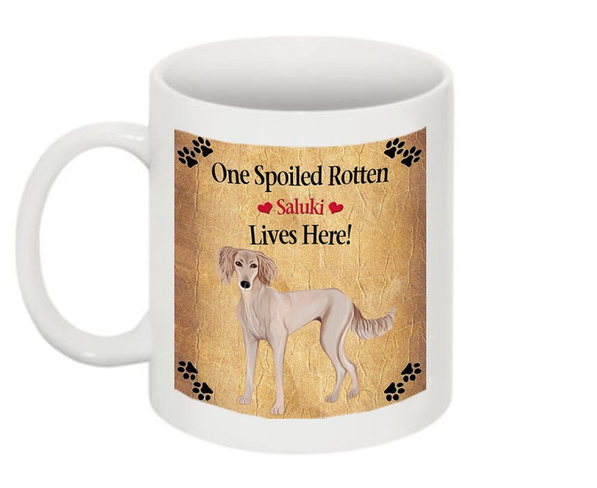 Saluki Puppy Spoiled Rotten Dog Mug