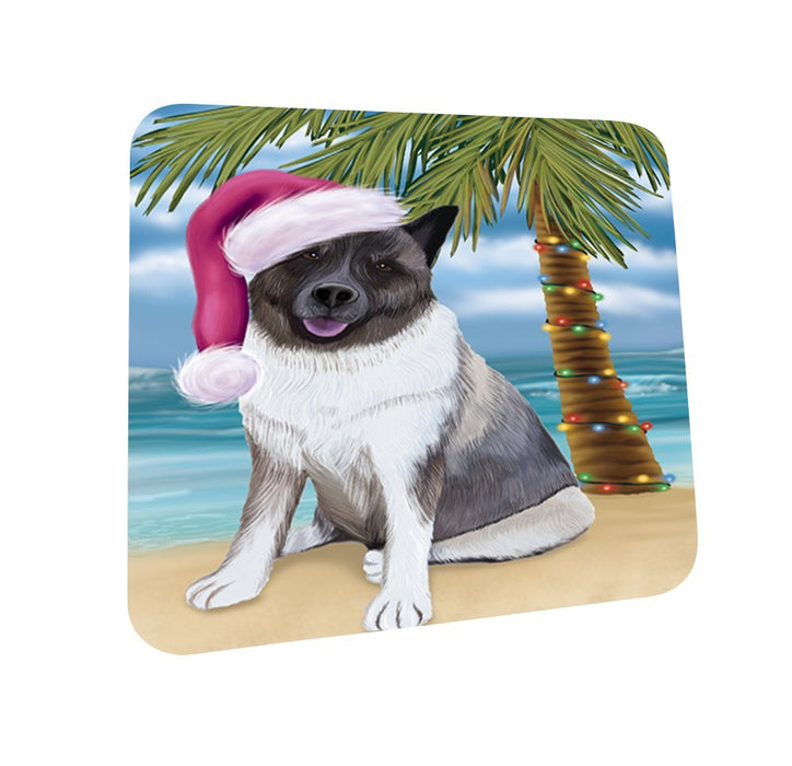 Summertime Akita Dog on Beach Christmas Coasters CST401 (Set of 4)
