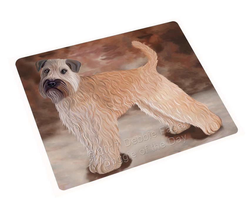Wheaten Terrier Soft Coated Dog Art Portrait Print Woven Throw Sherpa Plush Fleece Blanket