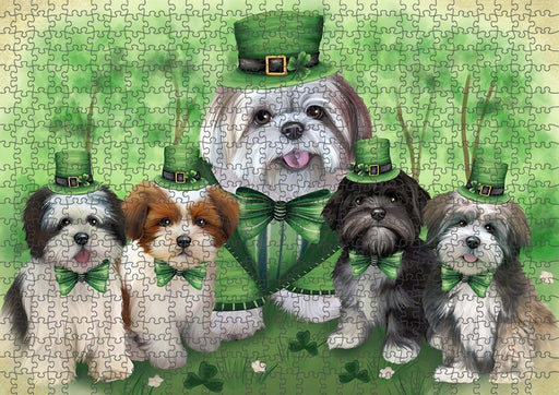 St. Patricks Day Irish Portrait Lhasa Apsos Dog Puzzle with Photo Tin PUZL51696