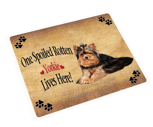"Spoiled Rotten Yorkie Dog Magnet Mini (3.5"" x 2"")"