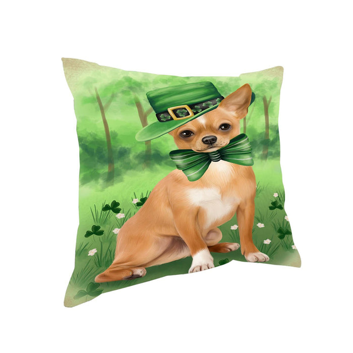 St. Patricks Day Irish Portrait Chihuahua Dog Pillow PIL50972
