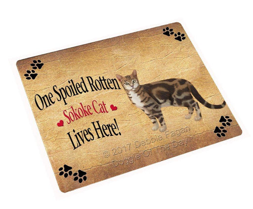 "Spoiled Rotten Sokoke Cat Magnet Small (5.5"" x 4.25"")"