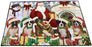 Happy Holidays Christmas Boxers Dog House Gathering Floormat FLMS51066