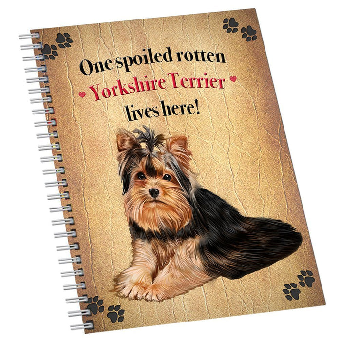 Yorkshire Terrier Spoiled Rotten Dog Notebook
