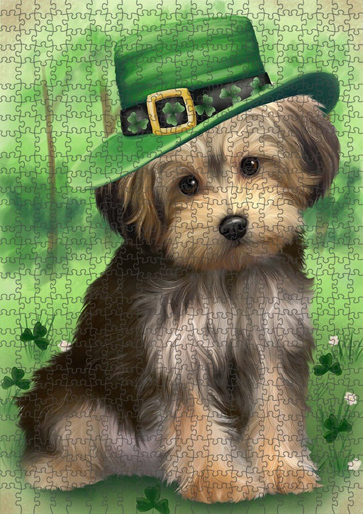 St. Patricks Day Irish Portrait Yorkipoo Dog Puzzle with Photo Tin PUZL51999