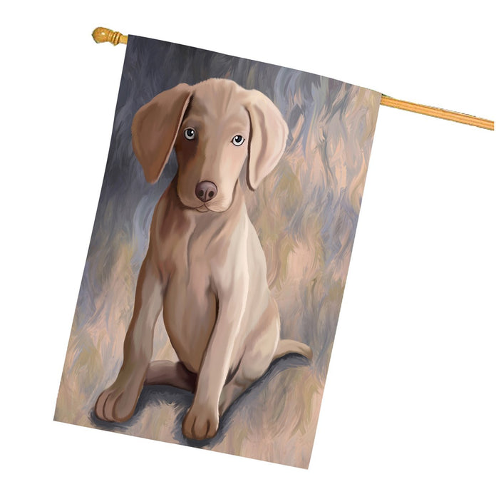 Weimaraner Puppy Dog House Flag