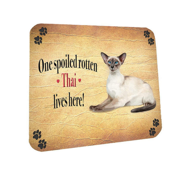 Spoiled Rotten Thai Cat Coasters Set of 4