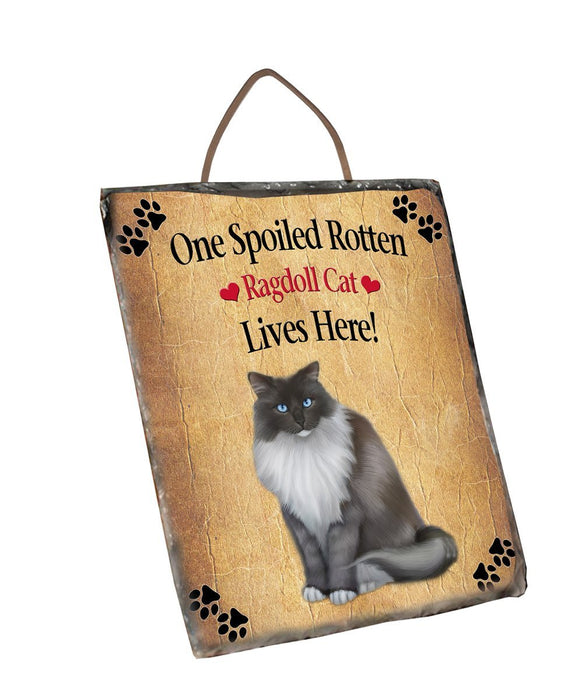 Spoied Rotten Ragdoll Cat Wall Décor Hanging Photo Slate