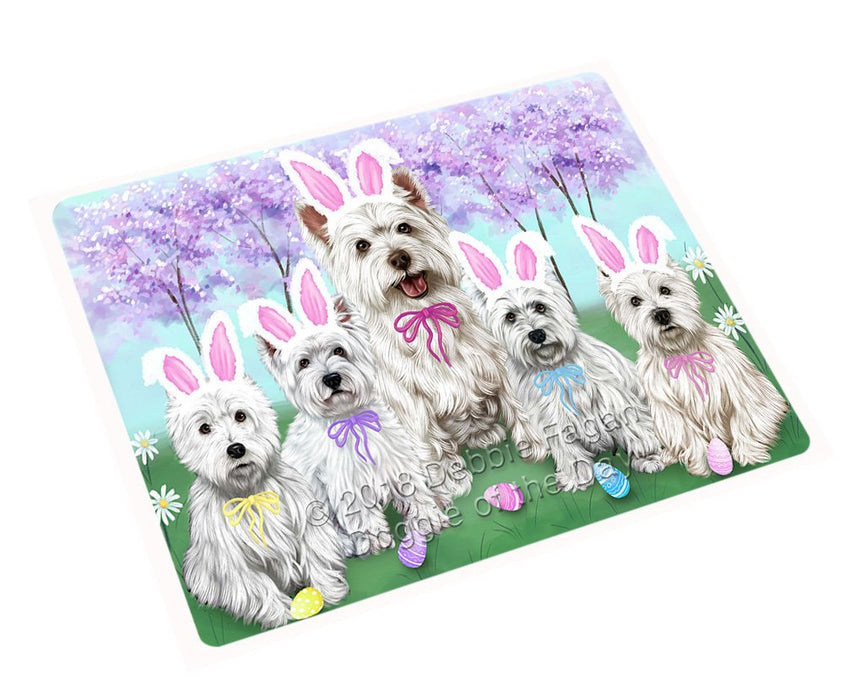 "West Highland Terriers Dog Easter Holiday Magnet Mini (3.5"" x 2"") MAG52155"