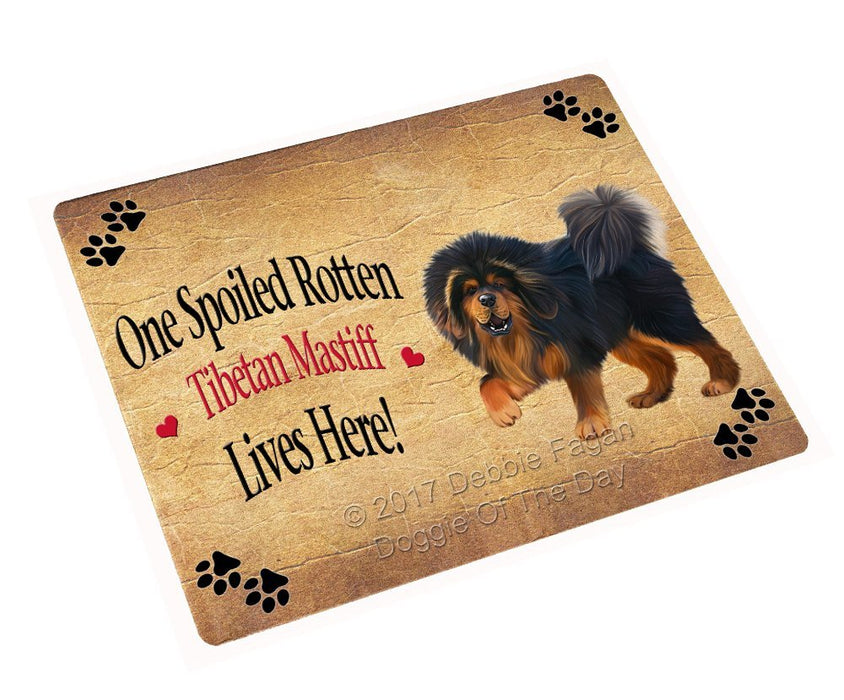 Spoiled Rotten Tibetan Mastiff Dog Art Portrait Print Woven Throw Sherpa Plush Fleece Blanket
