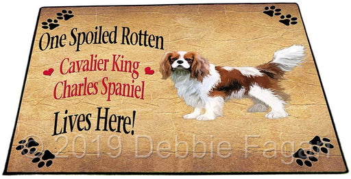 Cavalier King Charles Spaniel Spoiled Rotten Dog Indoor/Outdoor Floormat