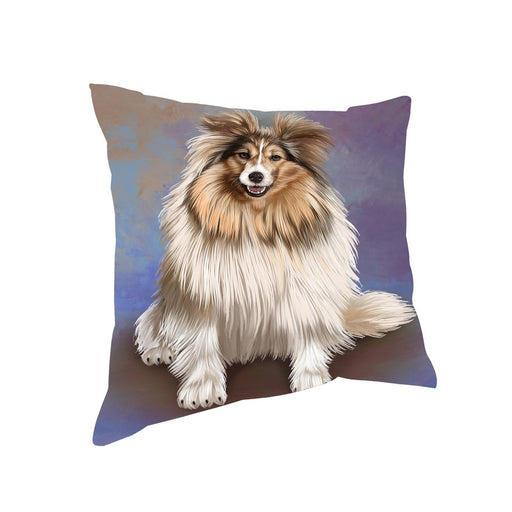 Shetland Sheepdogs Adult Dog Throw Pillow