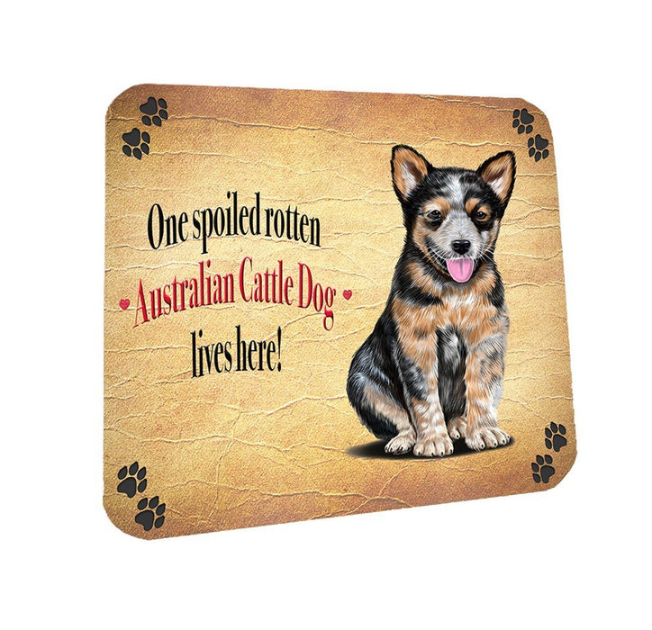 Spoiled Rotten Australian Cattle Dog Coasters Set of 4