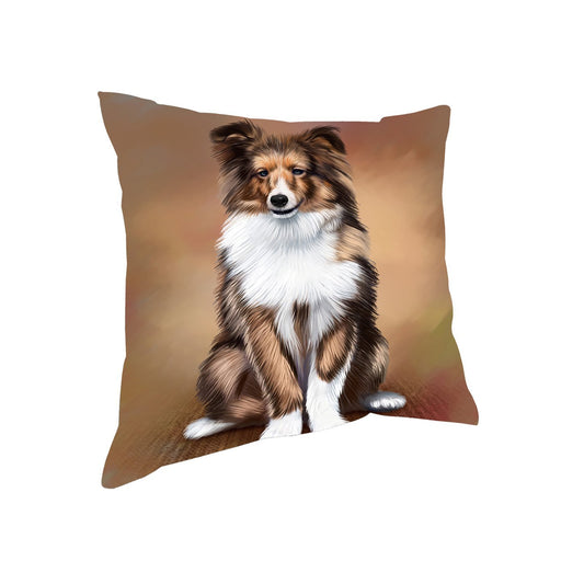 Shetland Sheepdogs Puppy Dog Throw Pillow
