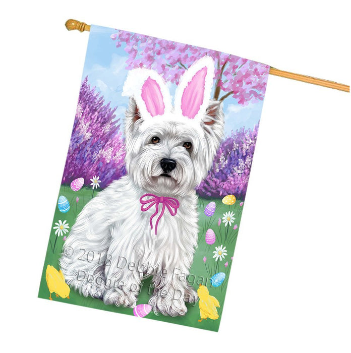 West Highland Terrier Dog Easter Holiday House Flag FLG49395