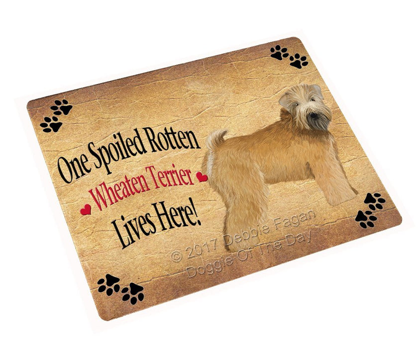 Spoiled Rotten Wheaten Terrier Dog Tempered Cutting Board