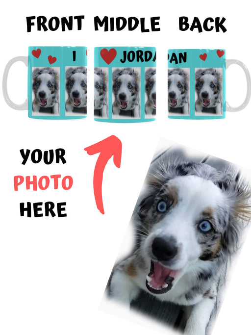 Custom Add Your Photo Here PET Dog Cat Photos on Coffee Mug